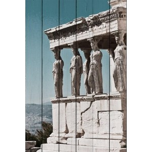 Картина на дереве Дом Корлеоне Акрополь Афины 80x120 см