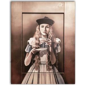Картина с арт рамой Дом Корлеоне Алиса в стране чудес 80x100 см