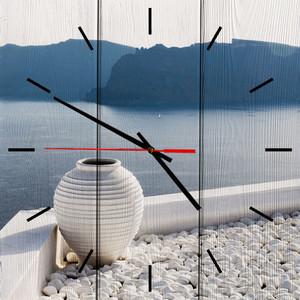 Настенные часы Дом Корлеоне Белая ваза 30x30 см фото