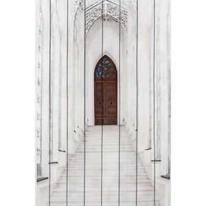 Картина на дереве Дом Корлеоне Белая лестница 100x150 см