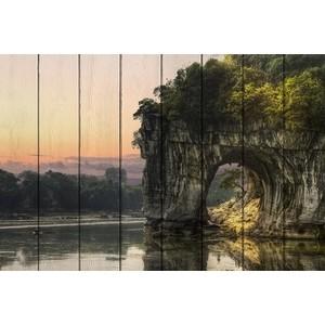 Картина на дереве Дом Корлеоне Белая скала 80x120 см