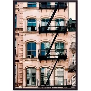 Постер в рамке Дом Корлеоне Белый дом с лестницей 30x40 см