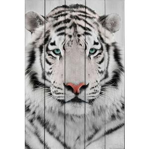 Картина на дереве Дом Корлеоне Белый тигр 100x150 см