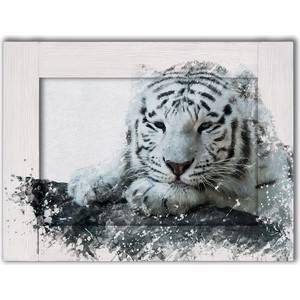 Картина с арт рамой Дом Корлеоне Белый тигр 35x45 см фото