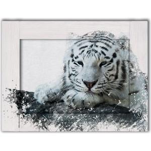 Картина с арт рамой Дом Корлеоне Белый тигр 70x90 см