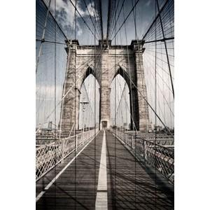 Картина на дереве Дом Корлеоне Бруклинский мост 120x180 см