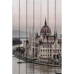 Картина на дереве Дом Корлеоне Будапешт 30x40 см рамка inspire nina 30x40 см цвет белый