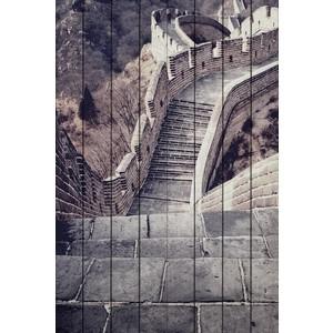 Картина на дереве Дом Корлеоне Великая стена 100x150 см панно великая стена 3пр pannorama панно великая стена 3пр