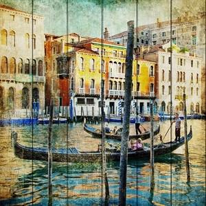 Картина на дереве Дом Корлеоне Венеция 150x150 см