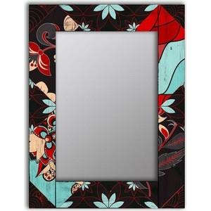 цена Настенное зеркало Дом Корлеоне Весенние цветы 65x65 см