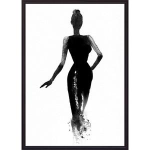 Постер в рамке Дом Корлеоне Вечернее платье Акварель 40x60 см