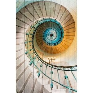 Картина на дереве Дом Корлеоне Винтовая лестница 60x90 см lm 60x90