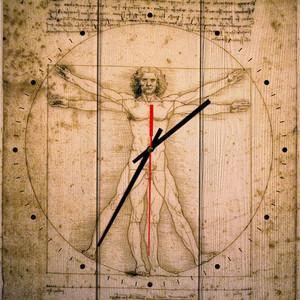 Настенные часы Дом Корлеоне Витрувианский человек 60x60 см фото
