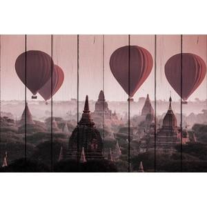 Картина на дереве Дом Корлеоне Воздушные шары 80x120 см фото