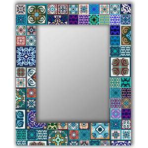 Настенное зеркало Дом Корлеоне Восточная плитка 90x90 см фото