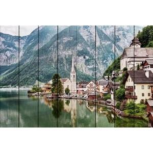 Картина на дереве Дом Корлеоне Гальштат Австрия 40x60 см