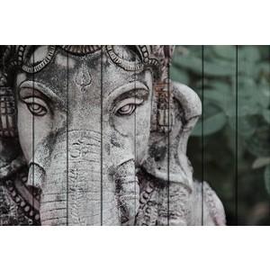 Картина на дереве Дом Корлеоне Ганеш 100x150 см mewg 100x150 см