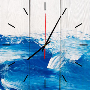 Настенные часы Дом Корлеоне Голубая вечность 40x40 см