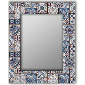 Настенное зеркало Дом Корлеоне Голубая плитка 50x65 см