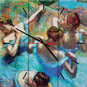 Настенные часы Дом Корлеоне Голубые танцовщицы 30x30 см