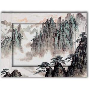Картина с арт рамой Дом Корлеоне Горный пейзаж 70x90 см картина репродукция без рамки пейзаж 78 см х 80 см х 3 см