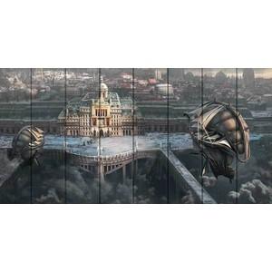 Картина на дереве Дом Корлеоне Город науки 70x140 см