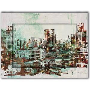 Картина с арт рамой Дом Корлеоне Город небоскребов 70x90 см картина с арт рамой дом корлеоне ожидание 70x90 см