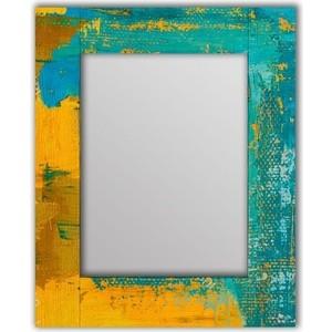 Настенное зеркало Дом Корлеоне Гранж Блю 90x90 см