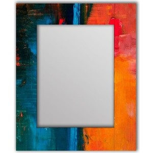 Настенное зеркало Дом Корлеоне Гранж Оранж 75x110 см