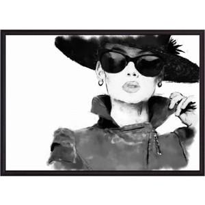 Постер в рамке Дом Корлеоне Дама в черной шляпе 21x30 см фото