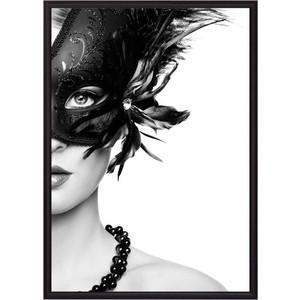 Постер в рамке Дом Корлеоне Девушка маске 21x30 см