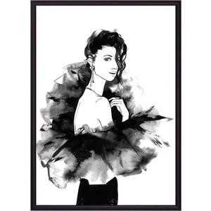 Постер в рамке Дом Корлеоне Девушка черном Акварель 21x30 см