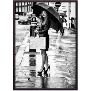 Постер в рамке Дом Корлеоне Девушка под зонтом 40x60 см