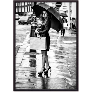 Постер в рамке Дом Корлеоне Девушка под зонтом 50x70 см