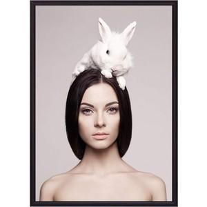 Постер в рамке Дом Корлеоне Девушка с кроликом 21x30 см