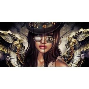 Картина на дереве Дом Корлеоне Девушка с крыльями 70x140 см