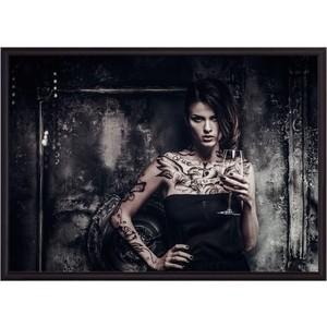 Постер в рамке Дом Корлеоне Девушка с татуировками 21x30 см