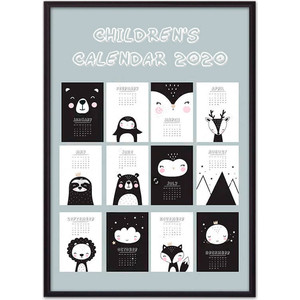 Постер в рамке Дом Корлеоне Детский календарь №1 50x70 см