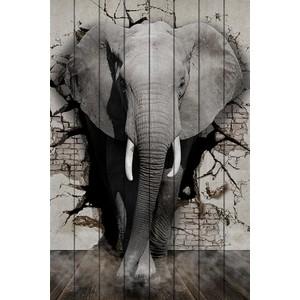 Картина на дереве Дом Корлеоне Дикий слон 120x180 см