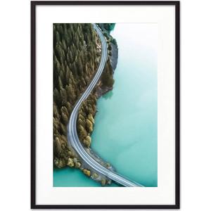 Постер в рамке Дом Корлеоне Дорога вдоль озера 40x60 см