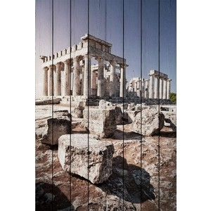 Картина на дереве Дом Корлеоне Древняя Греция 100x150 см