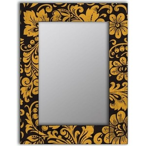 Настенное зеркало Дом Корлеоне Желтые цветы 90x90 см