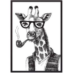Постер в рамке Дом Корлеоне Жираф Графика 40x60 см фото