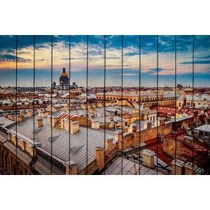 Картина на дереве Дом Корлеоне Закат в Санкт-Петербурге 60x90 см фото