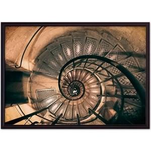 цена Постер в рамке Дом Корлеоне Закрученная лестница 30x40 см