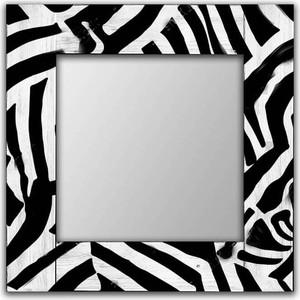 Настенное зеркало Дом Корлеоне Зебра 90x90 см
