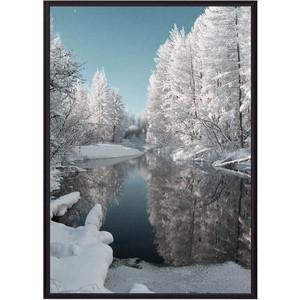 Постер в рамке Дом Корлеоне Зимнее озеро 50x70 см