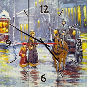 Настенные часы Дом Корлеоне Зимний вечер 30x30 см фото