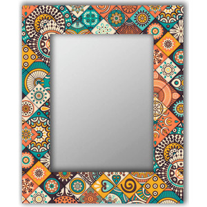 Настенное зеркало Дом Корлеоне Индийская плитка 55x55 см