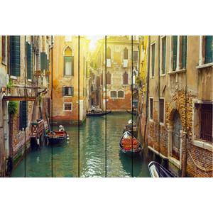Картина на дереве Дом Корлеоне Каналы Венеции 100x150 см фото